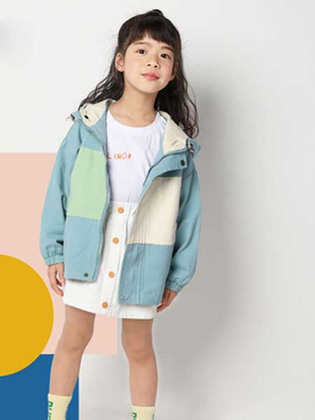 deermode童装品牌2020春夏新款男女童创意三色撞色休闲外套