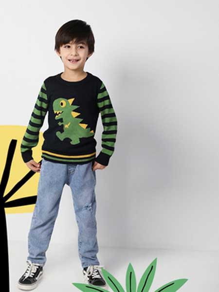 deermode童装品牌2020春夏新款男童创意破洞牛仔裤