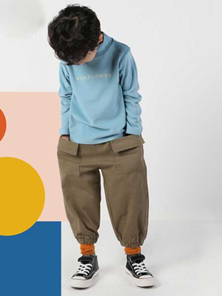 deermode童装品牌2020春夏新款创意男女童收口休闲裤