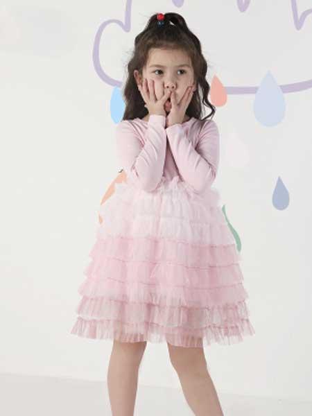deermode童装品牌2020春夏新款春秋女童长袖卫衣连衣裙