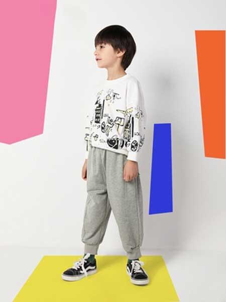 deermode童装品牌2020春夏新款纯色收脚裤