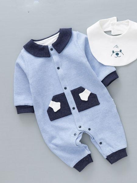 黔北贝贝童装品牌2020春夏新款纯色气质婴童爬行服