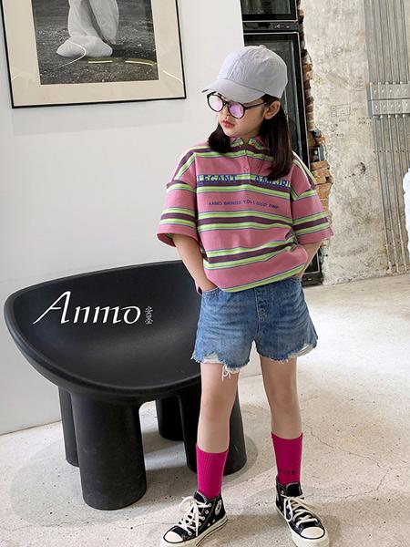安墨Ammo童装品牌2020春夏新款纯色翻领T恤