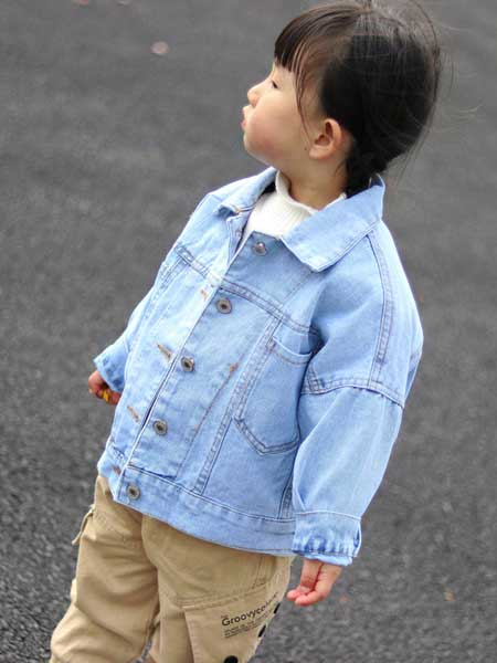 富禧童装品牌2020春夏新款童装儿童牛仔外套欧美卡通夹克纯棉潮童宝宝柔软上衣