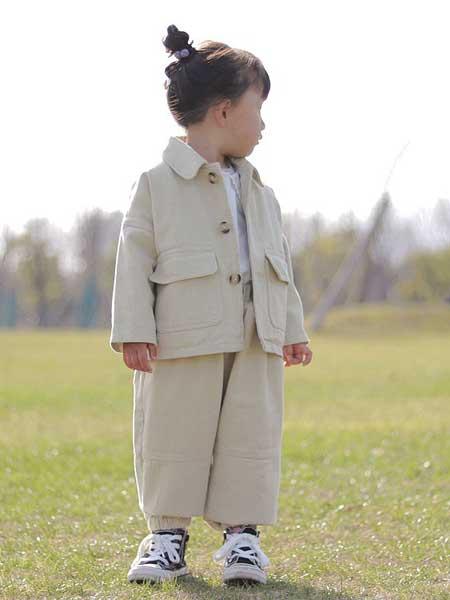 富禧童装品牌2020春夏新款春季儿童套装 韩版休闲两件套 男女潮童工装棉布长袖套装