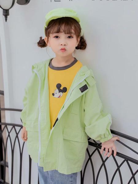 七秒易购童装品牌2020春夏新款纯色纽扣开衫