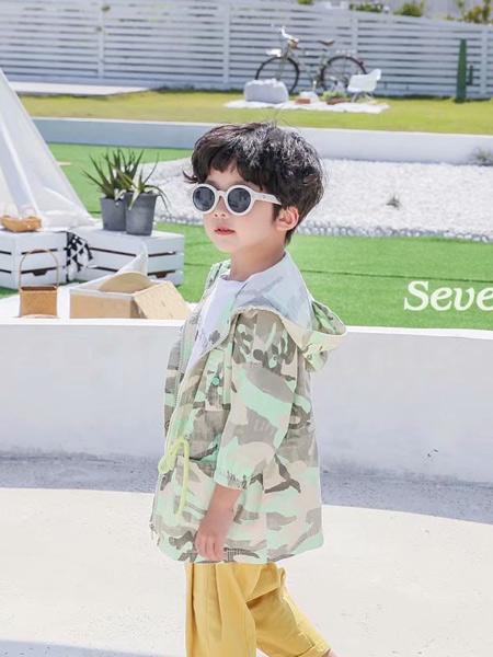 七秒易购童装品牌2020春夏新款迷彩个性外套
