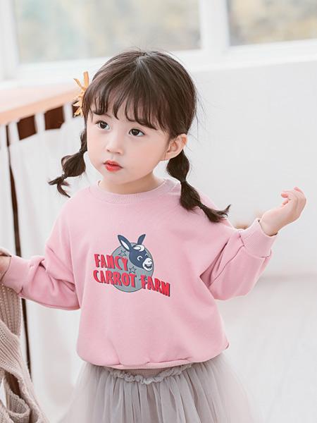 七秒易购童装品牌2020春夏新款纯色简洁图案卫衣套头衫