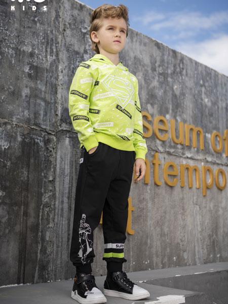 米6童品童装品牌2020春夏新款拼接色印字长袖上衣