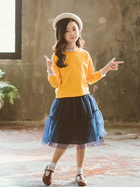 七巧童年童装品牌2020春夏新款春秋儿童绣花卫衣