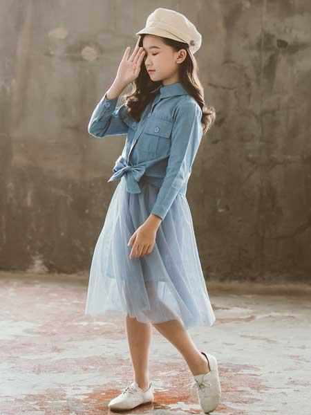 七巧童年童装品牌2020春夏新款秋装韩版时髦牛仔超洋气秋季套裙
