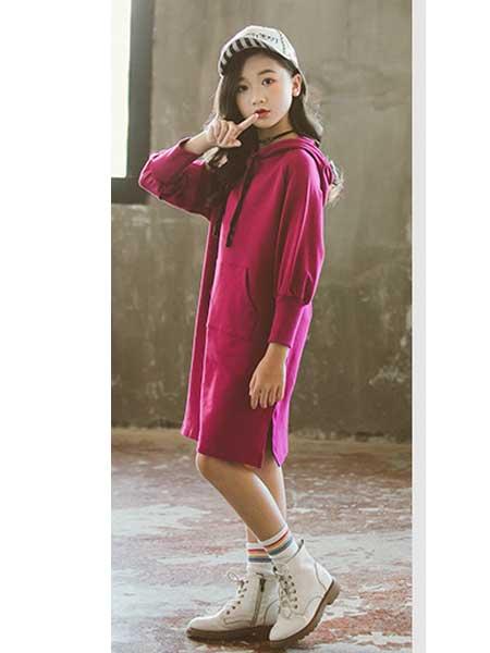 七巧童年童装品牌2020春夏新款韩版中长款中大童儿童长袖裙子