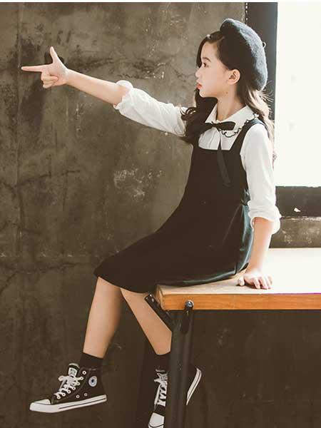 七巧童年童装品牌2020春夏新款韩版中大童女孩春款两件套裙