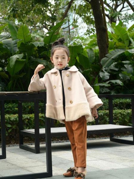 可米芽童装品牌2020春夏新款纯色翻领夹克