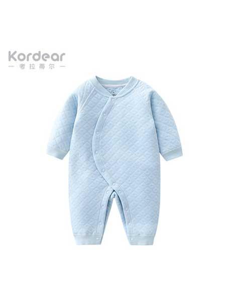 考拉蒂尔童装品牌2020春夏新生儿衣服婴儿连体衣男女长袖宝宝和尚服哈衣爬爬服