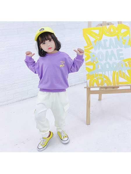 贝拉逗逗童装品牌2020春夏女童休闲运动服套装