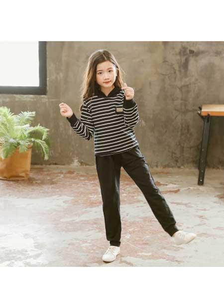 洁旺童装品牌2020秋冬新款儿童洋气韩版时尚两件套春秋大童时髦潮童装