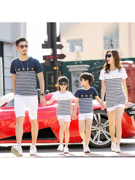 田园鼠童装品牌2020春夏亲子装t恤母女装三口时尚可爱短袖t恤
