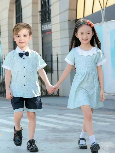 卓之衣园服童装品牌2020春夏休闲蓝色园服