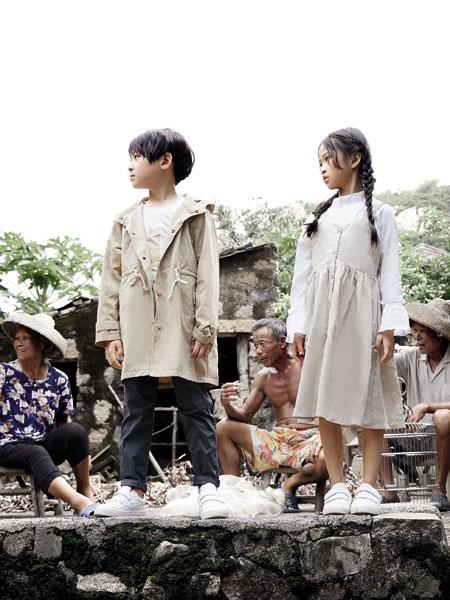 森虎儿童装品牌2020春夏新款纯色女童可爱连衣裙