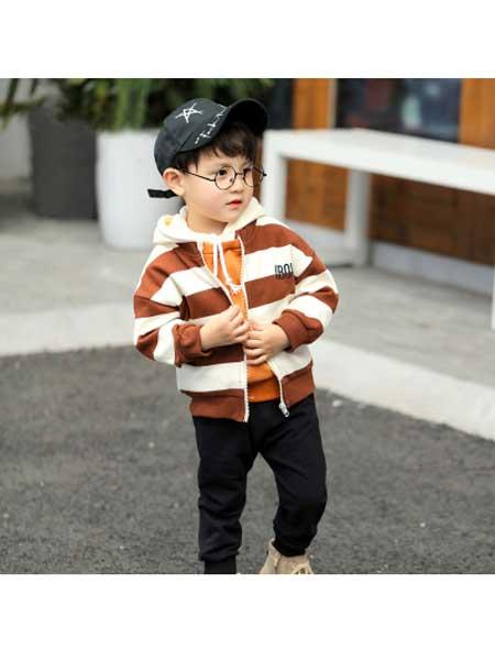 娟妮童装品牌2020秋冬韩版潮衣儿童时髦套装男宝宝三件套