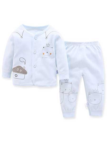 娟妮童装品牌2020秋冬可爱超萌男女婴儿冬装新生婴儿儿睡衣纯棉两件套