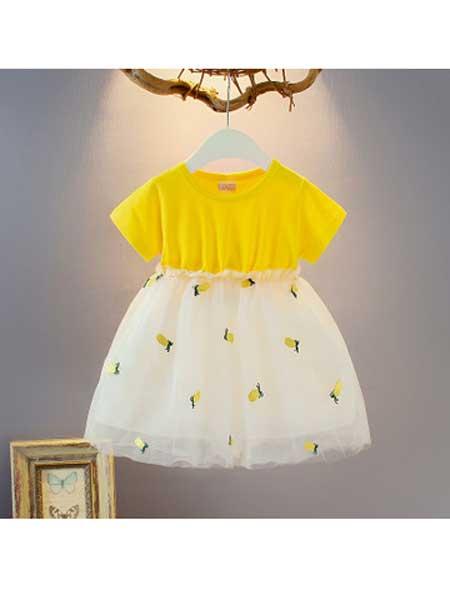 沐福瑞童装品牌2020春夏新款韩版儿童装0至4岁裙子可爱圆点蝴蝶结女童裙公主裙