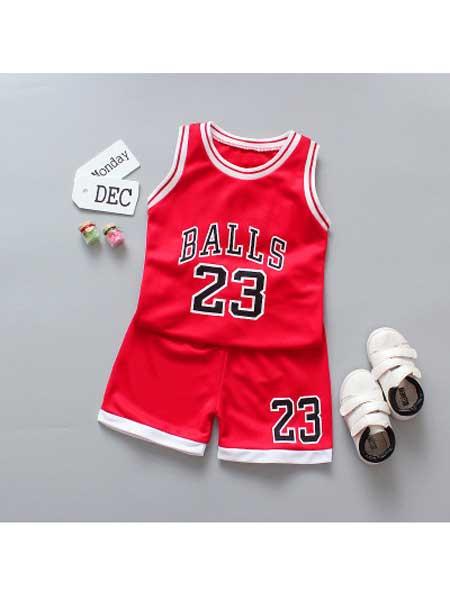 沐福瑞童装品牌2020春夏新款球服23可爱秋衣儿童套装潮时尚
