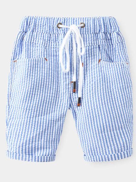 WELLKIDS童装品牌2020春夏新款条纹短裤新款韩版童装