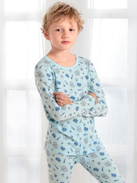 唯路易童装品牌2020春夏新款纯色印花气质家居服