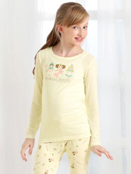 唯路易童装品牌2020春夏新款纯色简洁长款气质家居服