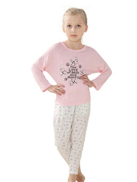 唯路易童装品牌2020春夏新款纯色图案简洁长袖打底衫