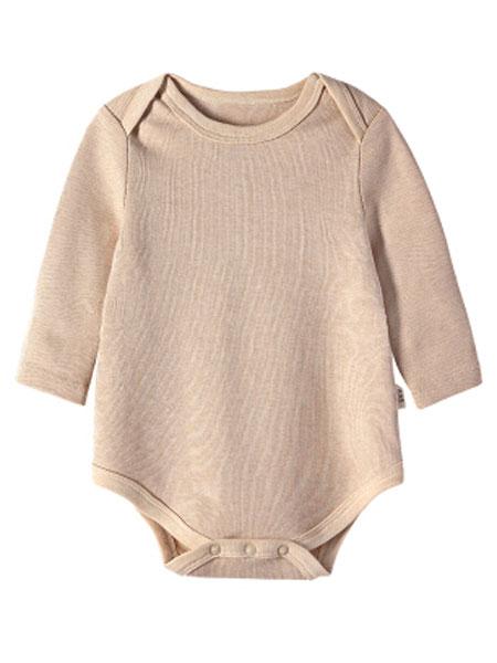 唯路易童装品牌2020春夏新款纯色小童家居爬行服