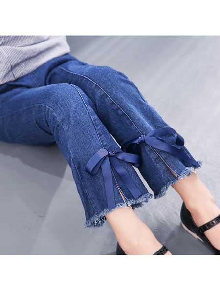 果力侠童装品牌2020春夏女童紧身牛仔裤中大童装儿童韩版弹力裤子薄款女孩小脚裤