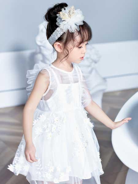 DIZAI童装品牌2020春夏网纱小仙女连衣裙