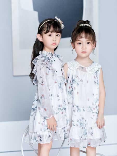 DIZAI童装品牌2020春夏碎花连衣裙