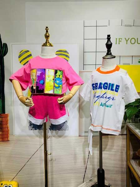 杭州永福熊品牌折扣童装童装品牌2020春夏童装套装裤子上衣