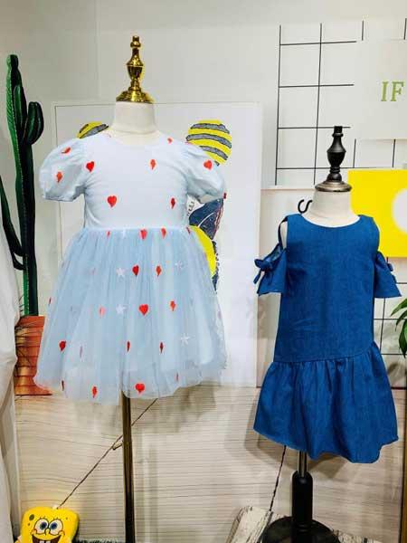 杭州永福熊品牌折扣童装童装品牌2020春夏甜美连衣裙
