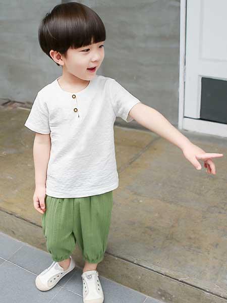 宾果童话童装品牌2020春夏棉麻套装