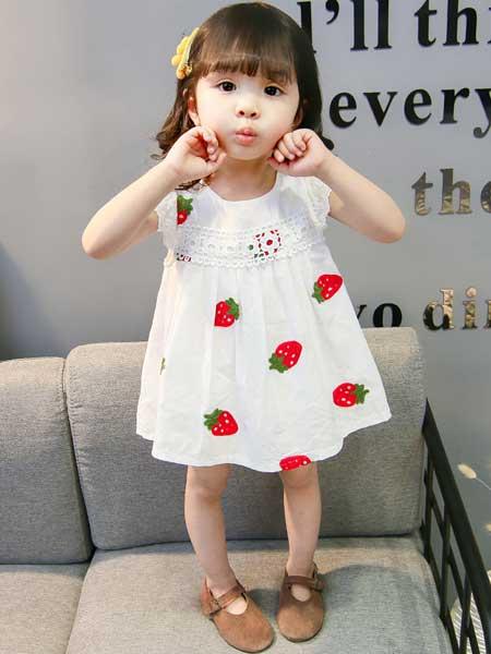 宾果童话童装品牌2020春夏卡通草莓连衣裙