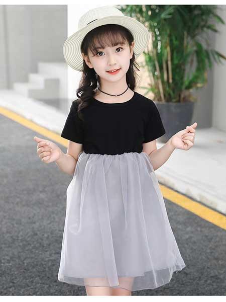 宾果童话童装品牌2020春夏网纱裙子