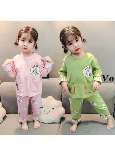 dolltown童装品牌2020春夏新款儿童家居服全棉