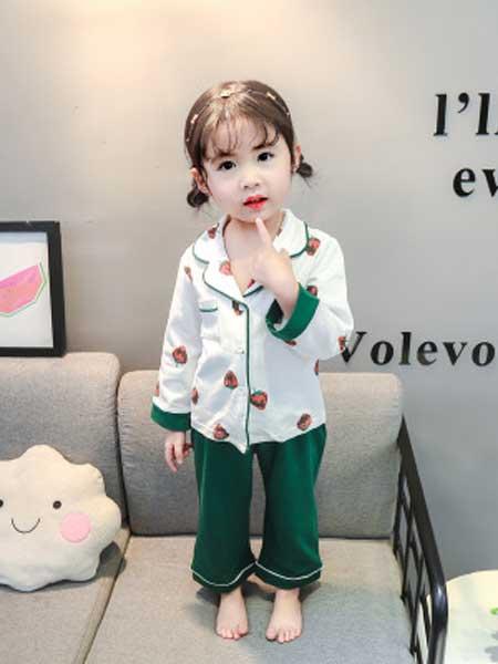 dolltown童装品牌2020春夏新款儿童家居服韩版纯棉女童长袖翻领睡衣套装