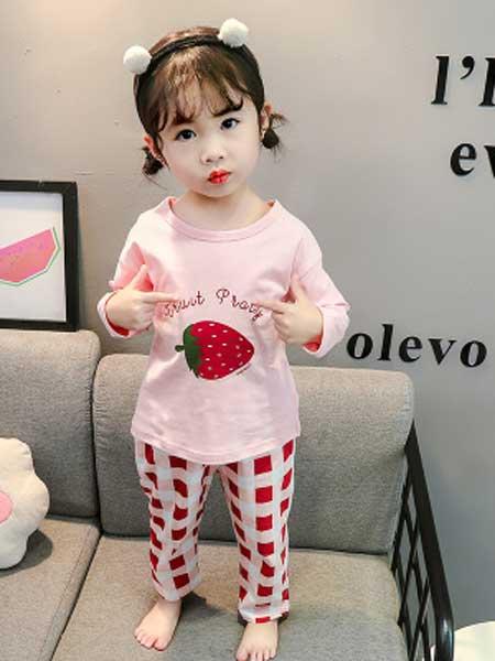 dolltown童装品牌2020春夏新款儿童家居服女童薄款全棉睡衣套装