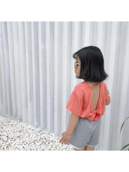 喆尔童装品牌2020春夏女童衬衫夏装短袖衬衣露背装