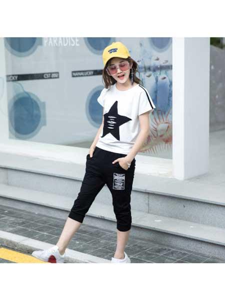 佰豪童装品牌2020春夏女童套装儿童运动女大童夏天12短袖13女孩衣服1