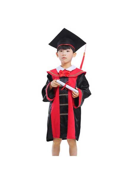 朗威童装品牌2020春夏儿童法官演出服cosplay律师职业体验游戏服 万圣节新款表演服