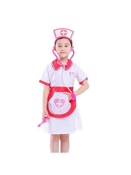 朗威童装品牌2020春夏儿童表演医生护士职业制服角色扮演服装幼儿园cosplay演出服