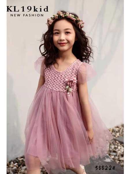 永福熊童装品牌2020春夏女童网纱仙气连衣裙