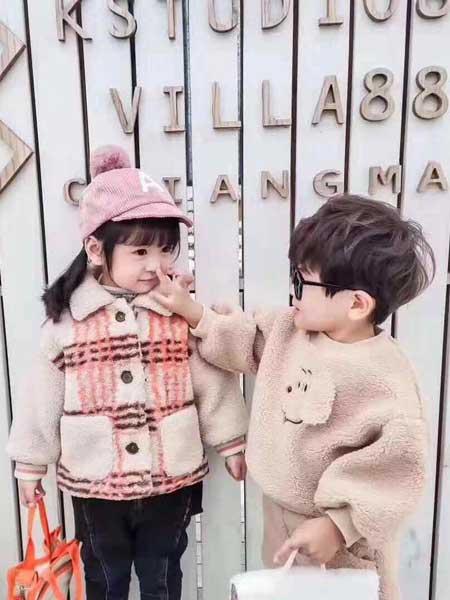 永福熊童装品牌2020春夏加绒保暖羊羔毛外套